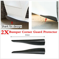 2Pcs Universal Car Body Bumper Guard Corner Protector Rubber Moulding Strip 25.5