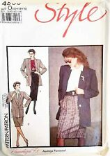 UNCUT Style 4569 Unlined Blazer Jacket & Pencil Skirt Suit Sewing Pattern 12-16