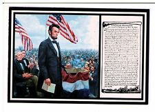Postcard:  The Gettysburg Address by Abraham Lincoln, Painting by Mort Kunstler