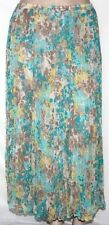 NEW JM Collection Crinkle Printed Long Skirt 16W/PEBBLE SWIRL $59.00