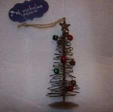 KOHL'S St. Nicholas Square Wire CHRISTMAS Tree WITH BELLS Ornament NEW IN BAG