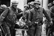 Vietnam War U.S. Marines Carry Wounded During Tet Offensive 8.5x11 Photo