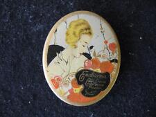 Vintage~LUXOR ENCHARMA~Complexion Powder TIN~1930's~graphics
