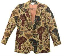 Giancarlo Ferrari Women's Medium Vintage Embroidered Blazer w/Shoulder Pads