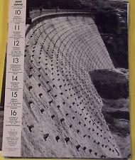 1956 SUISSE BARRAGE DE BARBERINE ,BARBARIN DAM SWITZERLAND