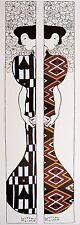 Gustav Klimt silhouette I-II poster Art Imprimé Image 95x33cm