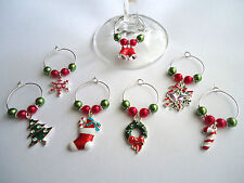 Christmas Wine Glass Charm Table Decorations ( sold individually )