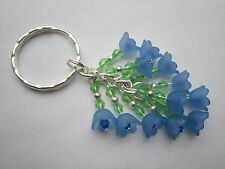 Keyring / Bag Charm - Blue Flowers - Bunch of Bluebells