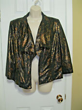 **KIM ROGERS** Fully Lined Lightewight Jacket/Blazer Open front  Size ((14)) EUC
