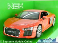 AUDI R8 V10 MODEL CAR 2016 1:24 SCALE RED SPORTS WELLY NEX OPENING PARTS K8