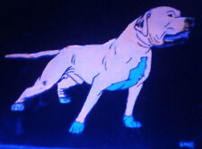 Gr Ch May Day Glow in the Dark American Pit Bull Terrier Pitbull Game Dog Art