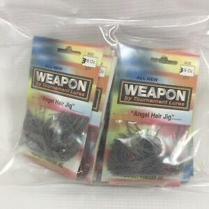 Weedless Angel Hair Jig 6Pc 3/8oz Tournament Lure Weapon Gary Klein Orange Brown
