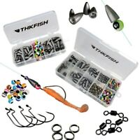 Fishing Tackle Box Texas Rig Accessories Lead Bullet Weight Fishing Hook Sinkers