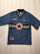 Newcastle United 1996 1997 Away Shirt   Blue Adidas   Size S   Vintage Retro