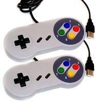 2 x Retro Super Nintendo SNES USB Controller Jopypads for Win PC/MAC Gamepads TO