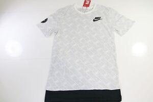 T-Shirt NIKE HAURACHE (SKU227) Taille M Manches Courtes Blanc Imprimée