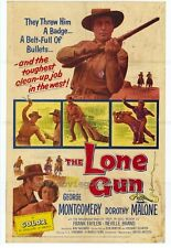 LONE GUN Movie POSTER 27x40 George Montgomery Dorothy Malone Frank Faylen