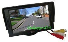 "4.3"" TFT LCD Car Rear View Reversing Color Monitor VCR DVD For Backup Camera UK"