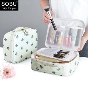 Bag Women Cosmetic Girl Outdoor Organizer Storage Case Waterproof Make up WHITE