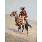 Remington Mexican Vaquero Horseman Painting Large Canvas Art Print