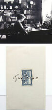 Sigrid Undset Prominent Norwegian Novelist Awarded Nobel Prize 1928 Autograph