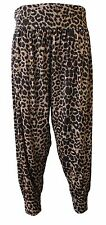 Womens Ladies Plus Size Printed Harem Pants Cuffed Bottom Ali Baba Trousers 8-26