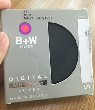 B+W 77mm XS-Pro Digital ND Vario Neutral Density MRC Nano Filter#1072522