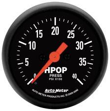 """Auto Meter Z Series 2 1/16"""" Electric Diesel HPOP Pump Pressure Gauge 0-4000 Psi"""