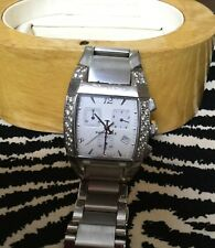 Faconnable Mezza Luna XL with Round Cut White Diamond Stainless Steel Watch