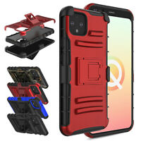 For Google Pixel 4 / Pixel 4 XL Hybrid Case With Stand Holster Belt Clip Cover