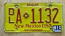 """1990 NEW MEXICO NEW USED CAR AUTO  DEALER LICENSE PLATE """" DL A 1132 """" NM  90"""