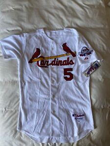 MAJESTIC AUTHENTIC 44 ST. LOUIS PUJULS GOLD 2009 ALL STAR GAME JERSEY NWT