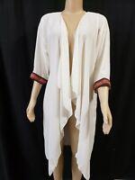 LuLaRoe Shirley Ivory Kimono Top Jacket Embroidered , 3/4 Sleeve Sz. NEW!