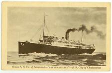 c1915 Steamship City of Chattanooga - Ocean S.S. Co Savannah Line