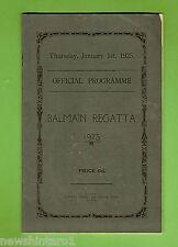 #D167.  1925  BALMAIN  REGATTA PROGRAM