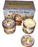 Lisa McCue Scented Candle Set Of 2 Bunny Rabbits Wick'N Tin Box Set Giftco NEW