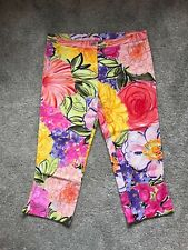 ROCCOBAROCCO FASHION Lady Trousers CAPRI MULTI ITALY size S Abstract