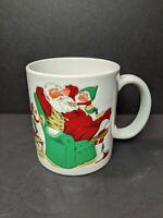 Vintage Otagiri Japan Christmas 3D Santa Claus Ceramic Coffee Mug Tea Cup Gift