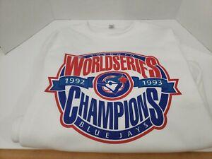Vintage Toronto Blue Jays World Series Champions (1992-1993) Sweater | Adult XL