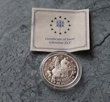 * Gibraltar 35 Ecus  + 25 Pounds 1992 PP , Ag. mit Zertifika * Ritter zu Pferde