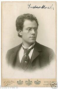 GUSTAV MAHLER - Signed Photograph - Austrian Composer - Preprint
