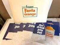 Vintage 1960's Era Frozen Fanta 9 Piece Promotional Advertising Poster Set RARE