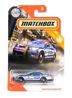 2020 Matchbox FORD POLICE INTERCEPTOR MBX City 1:64 Scale Die-cast Car - NEW
