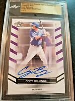 2017 Leaf Draft Cody Bellinger Rookie Purple Rare #/7 Autograph Proof Auto bgs
