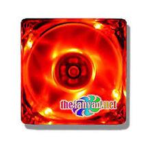 Vastech 80mm x 25mm Red UV LED Fan w/ 3 & 4 pin connector + Screws