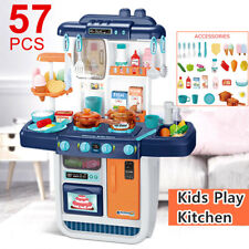 57pcs Kitchen Play Set Pretend Baker Kids Toy Cooking Playset Girls Boys Gift