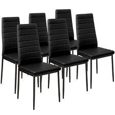 6x Esszimmerstuhl Set Stühle Küchenstuhl Hochlehner Wartezimmer Stuhl schwarz