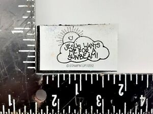 Stampin up Foam Mounted Rubber Stamp Jesus wants me Sunbeam