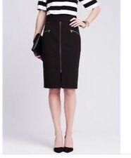 Banana Republic Sloan Black Skirt 8 NWT Gold Zipper $98 Pencil