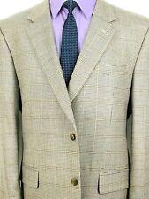 44L Jos A Bank Signature Mens Silk Wool 2 Bttn Sport Coat Beige Houndstooth Mint
